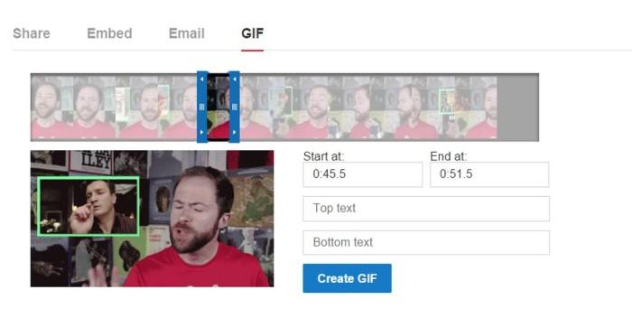 Редактор анимированных GIF на YouTube